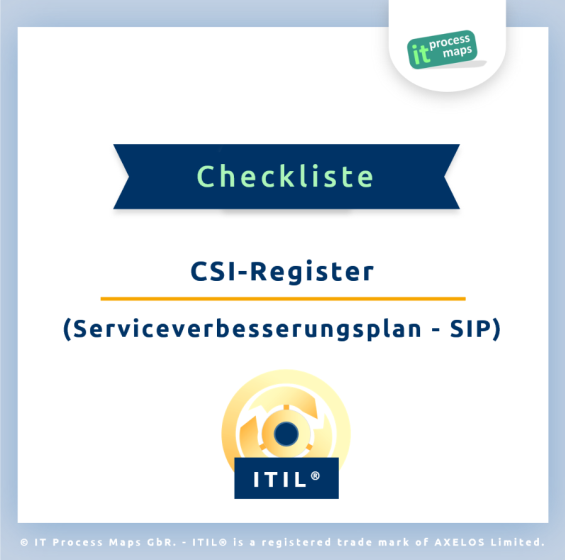 Checkliste Serviceverbesserungsplan SIP/ CSI-Register