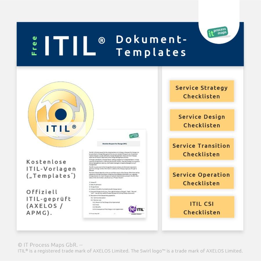 ITIL-Templates und Checklisten - Offiziell geprüft